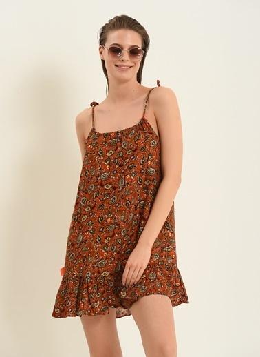 Morhipo Beach Şal Desenli Elbise Kiremit